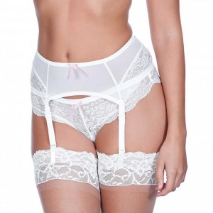 Suspender belt F white