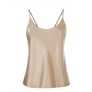 Silk top beige