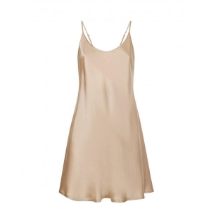 Silk nightdress beige