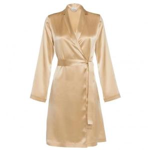 Silk La Perla robe beige