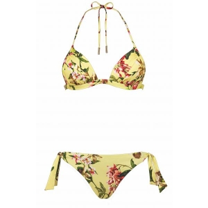 Fleuri triangle bikini set yellow