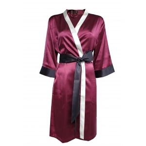 Aika silkki kimono bordoo