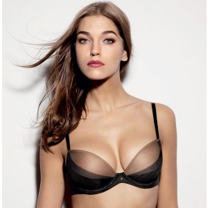 Sensuelle push up plunge bra black