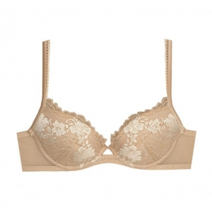 Lapis Lace push up bra beige