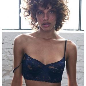 Amelia kaarituellinen toppi rintaliivi sininen