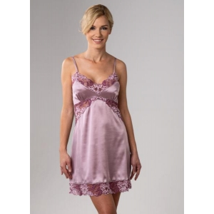 Angelica silk nightdress rose