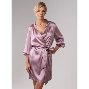 Angela silk robe rose